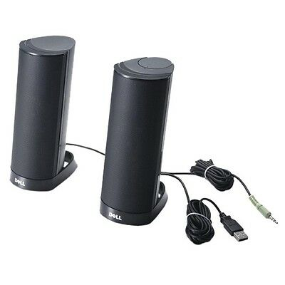 *** Genuine Dell™ AX210CR USB Stereo Speakers NEW  - Fantastic Sound Quality ***
