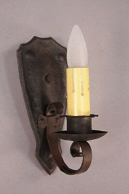 1 of 6 1920s Simple Iron Sconce Lights Spanish Revival Tudor Mission (10002)