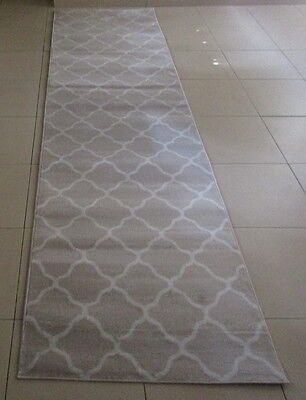 New Beige/bone Modern Heatset Floor Hallway Runner Rug 80X300Cm