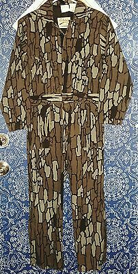 Cabelas Trebark Camo Coveralls Overalls Youth Sz.12 Insulated Hunting Paintball