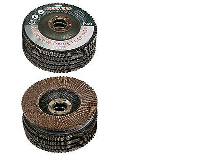 "Lot Of 10  4 1/2"" X 7/8"" Flap 40 Grit Wheel Sanding Disc Aluminum Oxide"