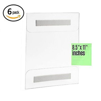 AJ Acrylic Sign Holder 8.5 X 11 Strong Adhesive Wall Mount No Drilling 6 PACK