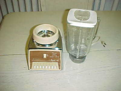 Vintage Oster Chrome Imperial VIII Osterizer Blender Glass Pitcher Yellow 8 USA