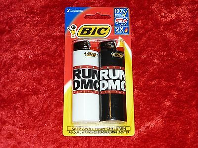 BIC Special Edtion 2x Lighters!! Run DMC Design! Factory Sealed! NICE!