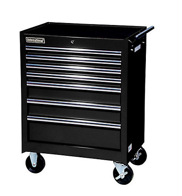 International Portable Rolling 7 Drawer Tool Cabinet Chest Mechanic Toolbox New