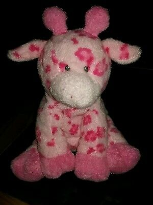TY Pluffies Pink Tiptop Giraffe baby love Tylux Rare!