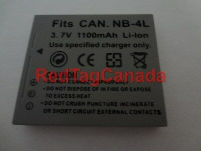 Battery for Canon NB-4L NB4L IXUS 115 220 HS 60 65 70 75 80 100 110 120 130 IS