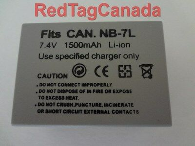 Battery for Canon NB-7L NB7L PowerShot G11 G12 SX30 IS 1500mAh - Canada