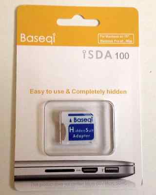 NEW Baseqi HiddenSuit MicroSD Adapter for Apple MacBook Air/Pro Blue F/S Japan