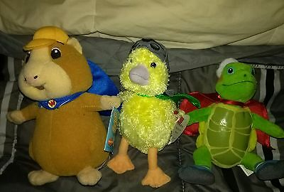 The Wonder Pets Plush Set including TY - Ming Ming, Tuck and Linny