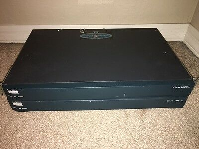 Cisco Catalyst 2600 Series CISCO2620 Router w/ WIC 1DSU T1 Lot Of 2