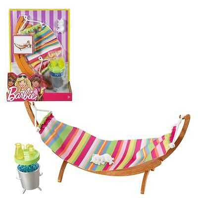 NEW! 2017 Barbie Doll House Furniture Hammock & Accessories Playset ~ New In Box
