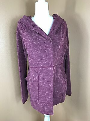 Lululemon Find Your Centre Wrap Marled Rust Berry Jacket Size 4