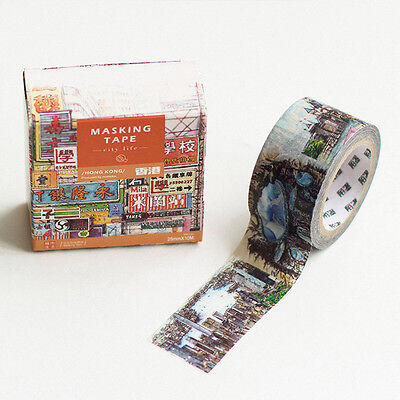 vintage street city building scenery travel Washi Masking Tape stickers crafts