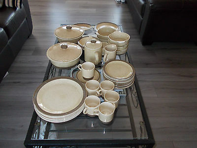 Vintage Poole Broadstone Pottery Dinner Set Consists Of 44 Pieces