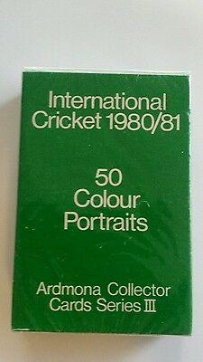 Ardmona Cricket Cards 1980/1981 Sealed box Series 3 Complete Set Excellent.