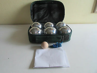 Garden Boules Set with 6 Steel Boules | Outdoor Boules, Lawn Boules, French Boul