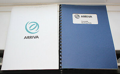 ARRIVA Timetable Working Party Report & Corporate samples folders