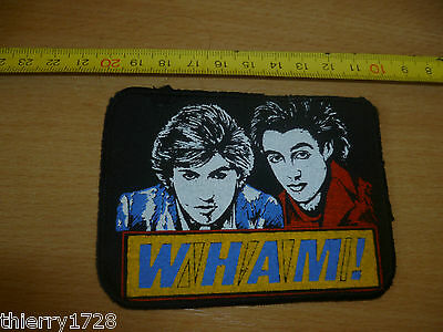 (9)  Patch Ecusson Tissu A Coudre / Coller Annees 80-90  Wham !