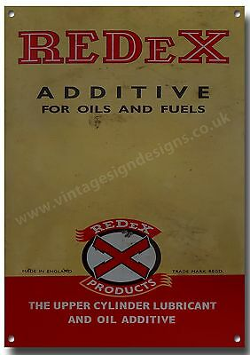 Redex  Additive For Oils And Fuels Metal Sign.vintage Motorcycle,garage Sign. A3