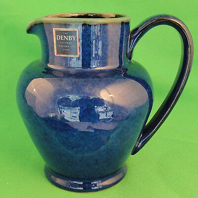 "METZ by Denby Blue & Green Milk Jug 5.75"" tall NEW NEVER USED made in England"