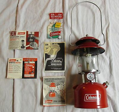 Coleman 200A Lantern 2/73 Made in USA with Instructions and Extras!!