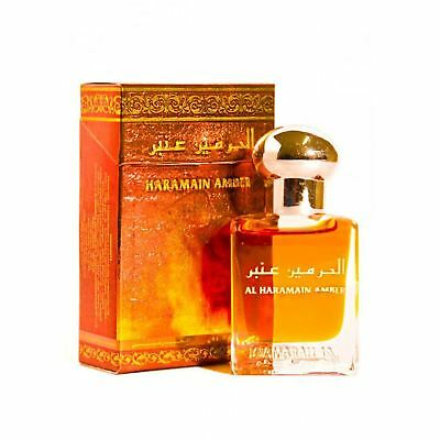 Amber Attar Perfume Oil 15ml Roll on Spices Artimesia Sandalwood Itr Al Haramain