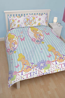 Disney Fairies Tinkerbell 'Cherish' Double Bed Duvet Cover Set
