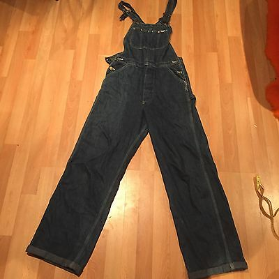 1960s Lee Dungarees Suedehead Bootboy Rockabilly Workwear W32