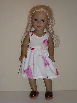 "Big Pink Hearts Sundress for 18"" Doll Clothes American Girl"