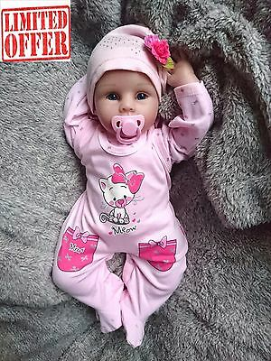 "NEW Baby Girls ""SWEET KITTEN"" 2 Piece* Set of Playsuit & Long Sleeve Top 100% CO"