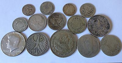 100.1 Grams World Silver Coins Collect Resell Scrap Silver Collection Bulk Lot