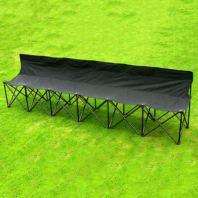 6 Seater Folding Sports Bench Football Rugby Team Match Day Subs Carry Bag New