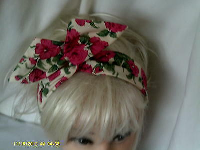 Wide Wire  Headband made in  Vintage Liberty of London Tana Lawn