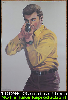 Vintage Law Enforcement Firearms Practice Shooting Target Gun Posters Man Cave