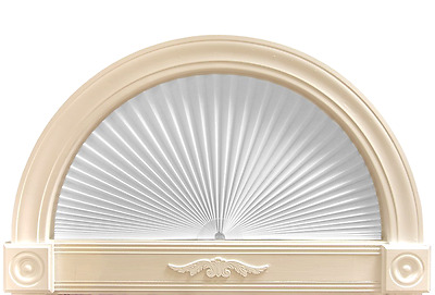 Redishade Rediarch Arch Window Shade New White Fabric Peel&stick ...