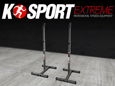 Olympic Squat Rack Stand Power Stands Barbell Adjustable Press Weight Bench