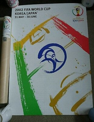 2002 fifa world cup japan official poster and tube korea