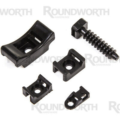 Cable Tie Wall Fixings Masonry Mount/Cradle/Eyelets/Bracket/Saddle/Base Screw-On