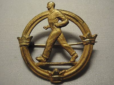 Vintage Swedish WW2 walking contest award gold plated sterling silver 925 Sweden