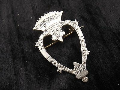 Vintage Sterling Silver Brooch LUCKENBOOTH  Celtic Arts Industries IONA Scottish
