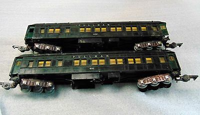 2 - American Flyer 652 Pullman cars - S Scale