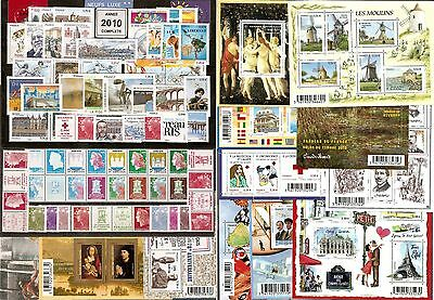 2010 FRANCE ANNEE COMPLETE  - NEUF ** LUXE - 98 Timbres MNH
