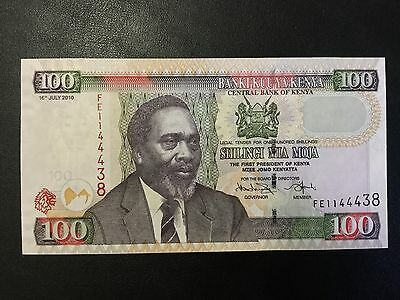 2010 Kenya Paper Money - 100 Shillings Banknote !