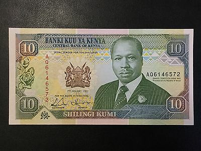 1992 Kenya Paper Money - 10 Shillings Banknote !