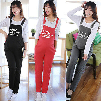 Maternity Trousers Pregnant Women Overalls Belly Pants Adjustable Jumpsuits L XL