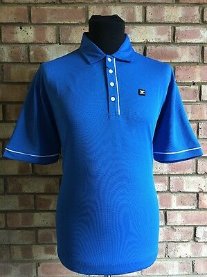 Stuburt Golf Men's Short Sleeve Polo Shirt Imperial Blue UK Medium Clearance