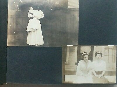 Antique photograph African American Angel Nanny with Infant
