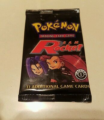 Pokemon Team Rocket 1st Edition ENGLISH Booster Pack (Sealed)