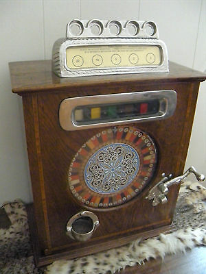 Caille Ben Hur - Antique Slot Machine  English Penny or 50 cent Counter Wheel